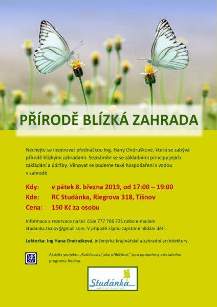 plakát Přírodě blízká zahrada