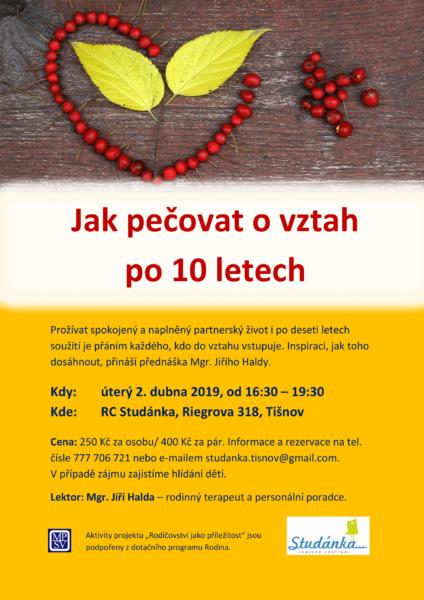 plakát Jak pečovat o vztah po 10 letech