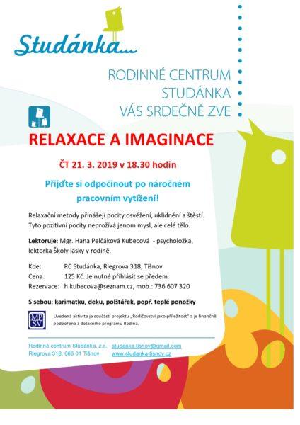 plakát Relaxace a imaginace 21.3.2019