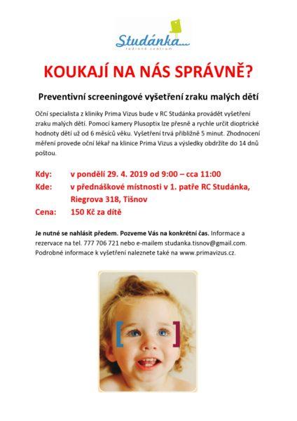 plakát PrimaVizus - měření očí