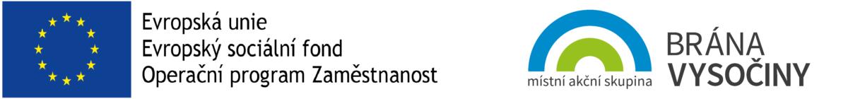 logo EU ESF OPZ a logo MAS Brána Vysočiny