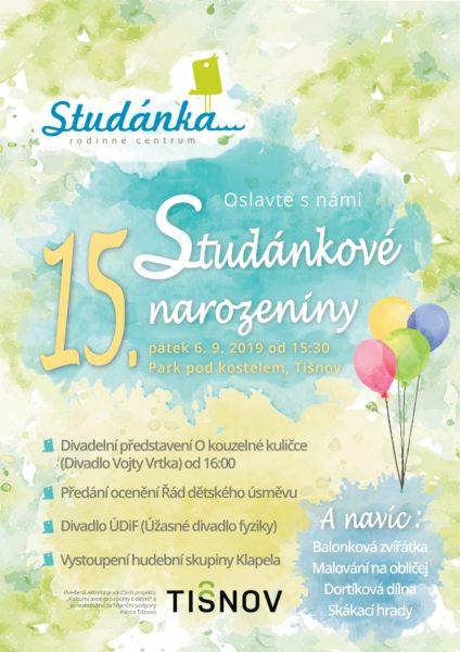 Plakát akce: 15. Studánkové narozeniny – prima odpoledne pro rodiny s dětmi