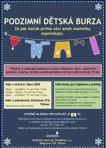 Plakát akce: Podzimní burza dětského oblečení – ZRUŠENO