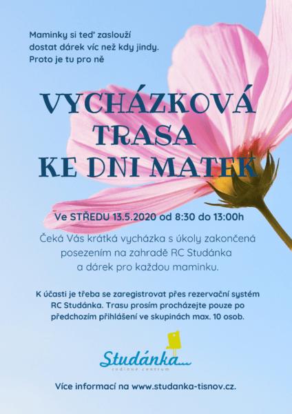 Plakát akce: Vycházková trasa ke Dni matek