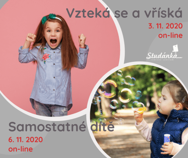 Plakát akce: Samostatné dítě – online