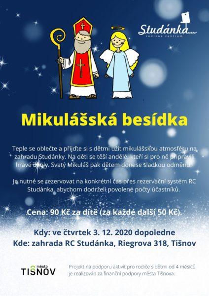 Plakát akce: Mikulášské dopoledne ve Studánce