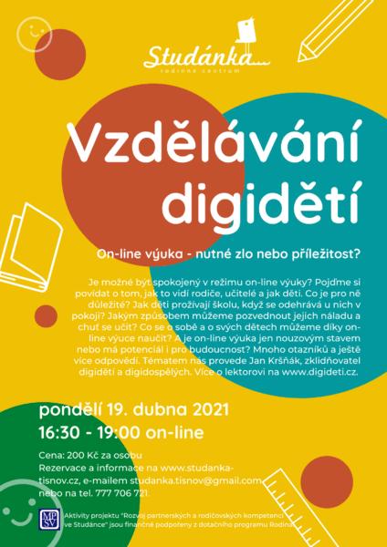 Plakát akce: Vzdělávání digidětí