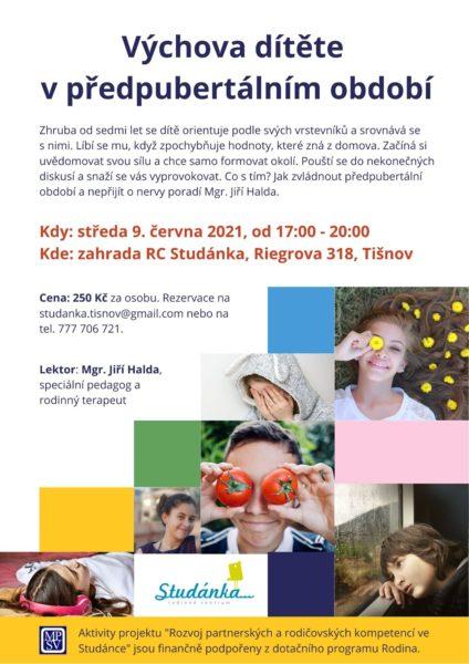 Plakát akce: Výchova dítěte v předpubertálním období