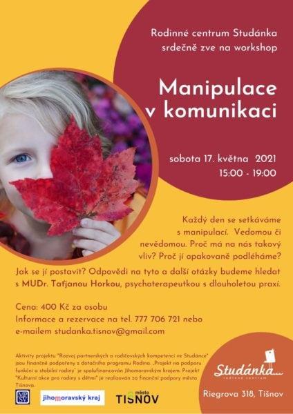 Plakát akce: Manipulace v komunikaci