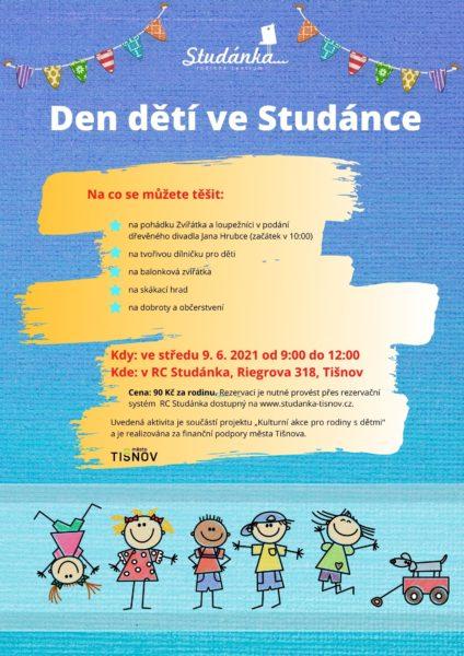 Plakát akce: Den dětí ve Studánce