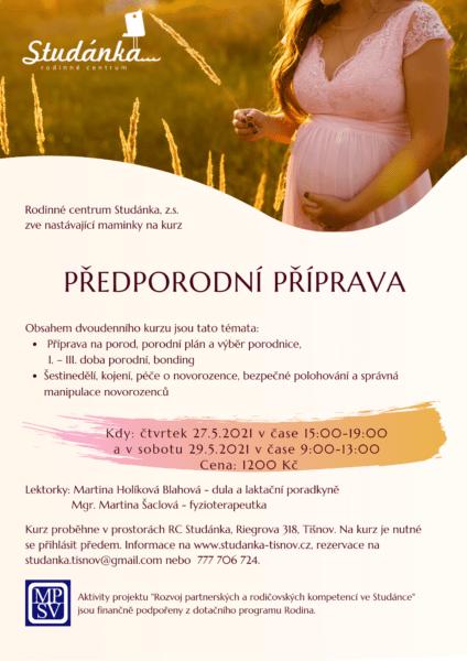 Plakát akce: Předporodní příprava