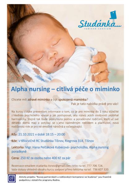 Plakát akce: Alpha nursing