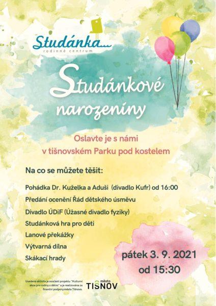 Plakát akce: Studánkové narozeniny